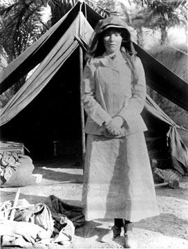 Gertrude Bell(1868–1926)English writer, traveler and archaeologist.  Served as advisor on Arabian affairs to the British government.